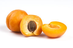 2 зрелых свежих абрикоса Стоковое фото RF