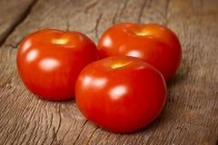 3 зрелых томата Стоковое Изображение