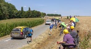 Зрители - Тур-де-Франс 2018 стоковое изображение