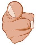 зритель пункта руки Стоковое Фото