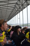 Зрители на MotoGP на Сильверстоуне Стоковое фото RF
