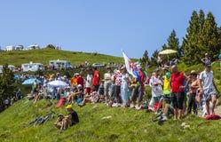 Зрители Le Тур-де-Франс Стоковое фото RF