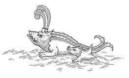 Зубастое морское чудовище Стоковая Фотография RF