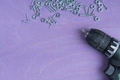 3 зубила на розовой предпосылке Стоковые Изображения RF