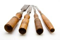 зубила плотников изолировали старый инструмент Стоковые Изображения