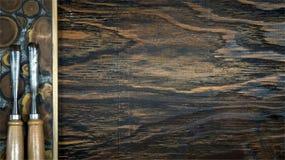 2 зубило & древесина Стоковое фото RF