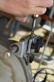Зубило смолото влажный - крупный план стоковая фотография rf