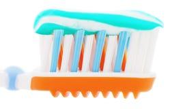 зубная паста зуба щетки близкая весьма вверх Стоковое Изображение RF