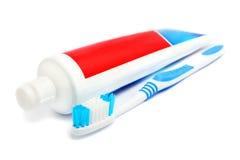зубная паста зуба щетки Стоковые Фотографии RF