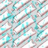 Зубная паста эскиза, vector безшовная картина иллюстрация штока