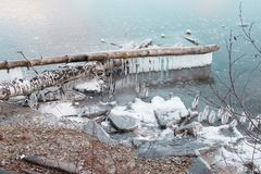 Зубная щетка льда стоковые фотографии rf