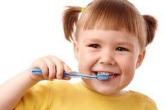 зубная щетка ребенка милая Стоковые Фото