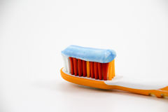 Зубная щетка с зубной пастой Стоковые Изображения RF