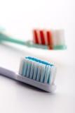 2 зубной щетки изолированной на белизне Стоковое Изображение RF