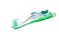 Зубные щетки изолированные на белой предпосылке Стоковые Изображения