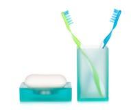 2 зубные щетки и мыла Стоковое Изображение RF