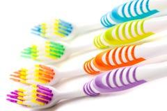 зубные щетки крупного плана Стоковые Фото