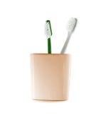 зубные щетки 2 фокуса щеток щетинки стеклянные остроконечные Стоковое Изображение