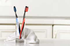 Зубные щетки Стоковая Фотография RF