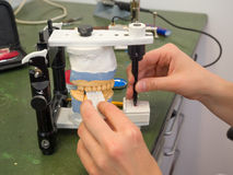 Зубоврачебная лаборатория стоковое изображение