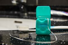 Зубоврачебная зубочистка стоковое изображение
