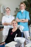 зубоврачебная команда стоковое изображение rf
