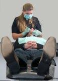 зубоврачебная терпеливейшая практика Стоковые Фотографии RF