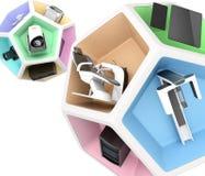 Зубоврачебное оборудование в кубе пентагона Стоковое Фото