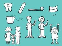 Зубоврачебные значки здоровья Стоковая Фотография RF