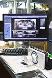 зубоврачебные изображения подвергают портативный луч механической обработке poskom x стоковые фото