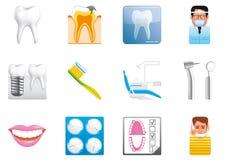 зубоврачебные иконы Стоковые Изображения