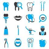 зубоврачебные иконы иллюстрация штока