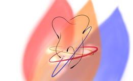 Зубоврачебный дизайн логотипа стоковые фотографии rf