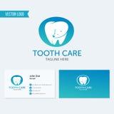 Зубоврачебный значок зуба логотипа вектора клиники Стоковые Изображения RF