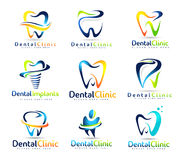 Зубоврачебный комплект логотипа дантиста Стоковая Фотография RF