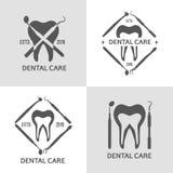 Зубоврачебный комплект логотипа Стоковое Изображение