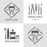 Зубоврачебный комплект логотипа Стоковые Изображения