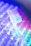 Зубоврачебный крупный план зубной щетки стоковые изображения
