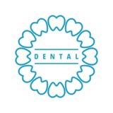 зубоврачебный логос иллюстрация штока