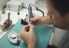 Зубоврачебный Toot заботы лаборатории протеза Стоковые Изображения