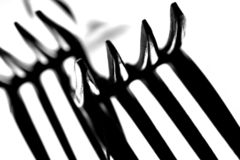 зубцы макроса вилки Стоковые Фотографии RF