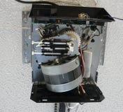 Зубчатая передача мотора консервооткрывателя двери гаража Стоковое Изображение