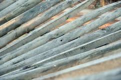 зубчатая стена барьера деревянная Стоковые Изображения RF