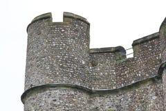 Зубчатая стена замка Lewes Стоковое Изображение RF