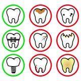 Зубы значков Стоковое Изображение RF