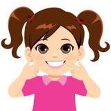 Зубы сладкой маленькой девочки усмехаясь иллюстрация вектора