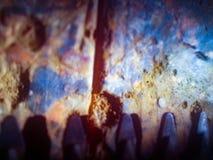 Зубы цепной пилы Стоковая Фотография