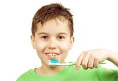 зубы чистки Стоковые Изображения RF