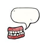 зубы шаржа ложные Стоковое Изображение