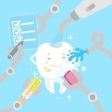 Зубы шаржа с забеливать концепцию Стоковая Фотография